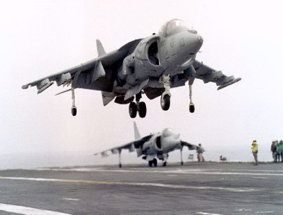 harrier on carrier